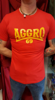 Aggro 69 T-shirt (Red and Yellow)